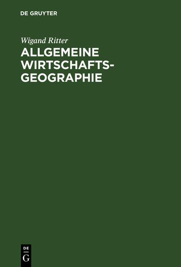 Allgemeine Wirtschaftsgeographie - Blick ins Buch