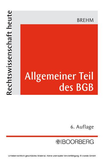 Allgemeiner Teil des BGB - Blick ins Buch