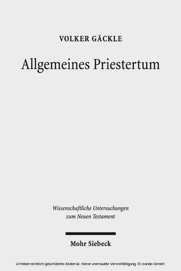 Allgemeines Priestertum - Blick ins Buch