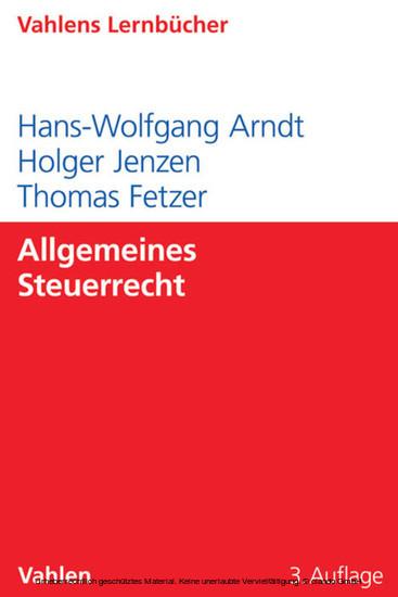 Allgemeines Steuerrecht - Blick ins Buch