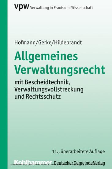 Allgemeines Verwaltungsrecht - Blick ins Buch