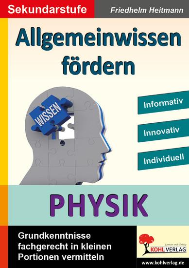 Allgemeinwissen fördern PHYSIK - Blick ins Buch