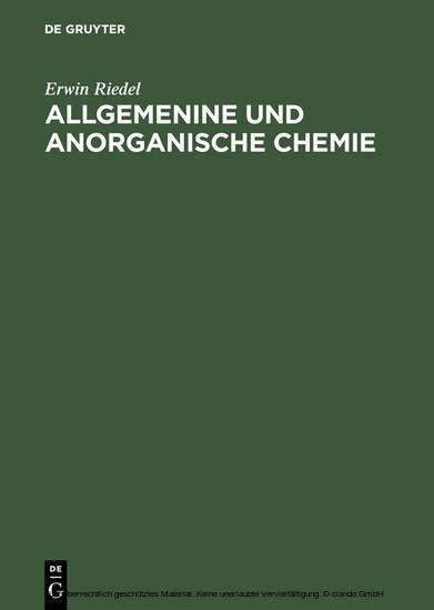 Allgemenine und anorganische Chemie - Blick ins Buch