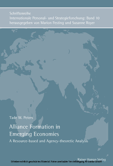 Alliance Formation in Emerging Economies - Blick ins Buch