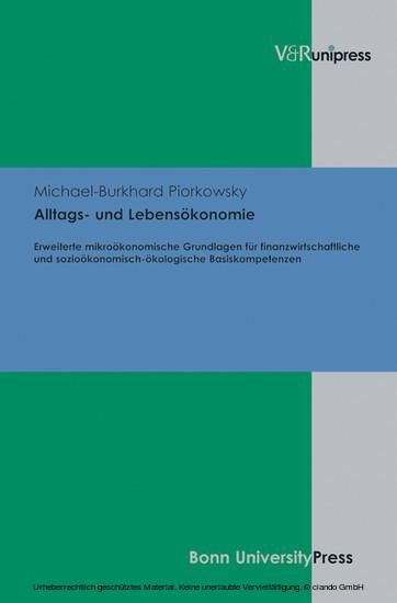 Alltags- und Lebensökonomie - Blick ins Buch