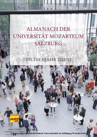 Almanach der Universität Mozarteum Salzburg - Blick ins Buch