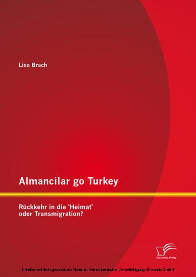 Almancilar go Turkey - Rückkehr in die 'Heimat' oder Transmigration? - Blick ins Buch