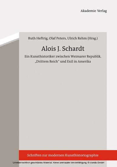 Alois J. Schardt - Blick ins Buch