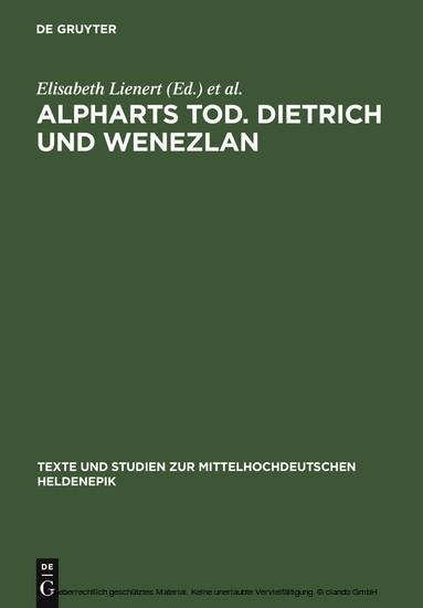 Alpharts Tod. Dietrich und Wenezlan - Blick ins Buch