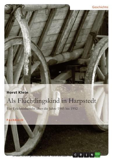 Als Flüchtlingskind in Harpstedt - Blick ins Buch