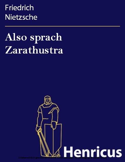 Also sprach Zarathustra - Blick ins Buch