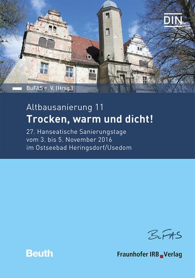 Altbausanierung 11. Trocken, warm und dicht!. - Blick ins Buch