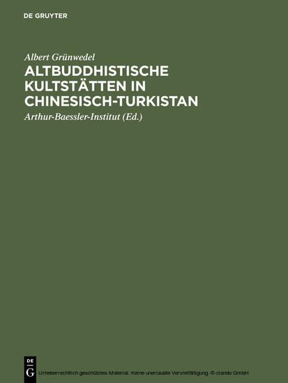 Altbuddhistische Kultstätten in Chinesisch-Turkistan - Blick ins Buch