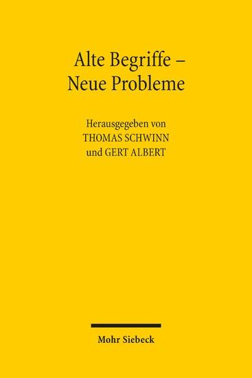 Alte Begriffe - Neue Probleme - Blick ins Buch