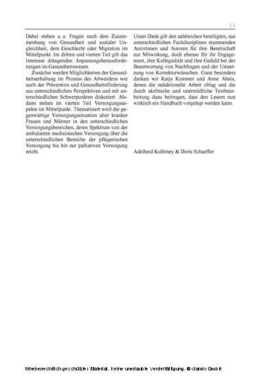 Alter, Gesundheit und Krankheit - Blick ins Buch