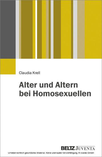 Alter und Altern bei Homosexuellen - Blick ins Buch