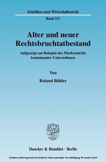 Alter und neuer Rechtsbruchtatbestand. - Blick ins Buch