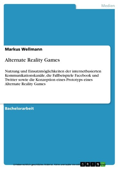 Alternate Reality Games - Blick ins Buch