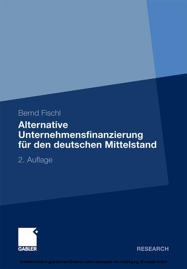 Alternative Unternehmensfinanzierung für den deutschen Mittelstand - Blick ins Buch
