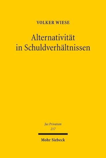 Alternativität in Schuldverhältnissen - Blick ins Buch