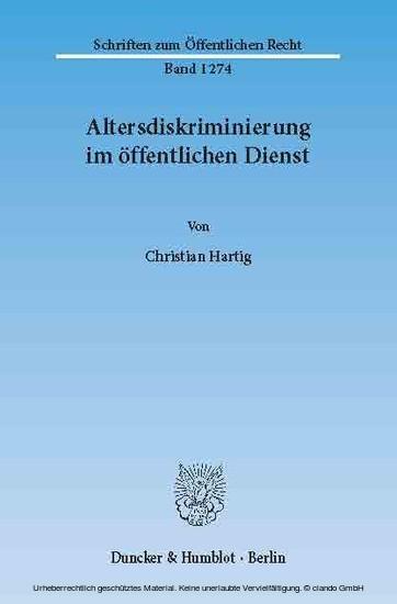 Altersdiskriminierung im öffentlichen Dienst. - Blick ins Buch