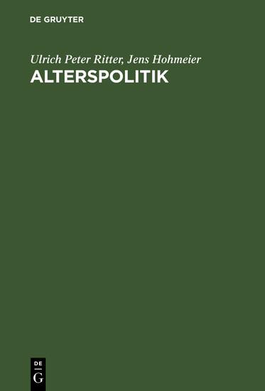 Alterspolitik - Blick ins Buch