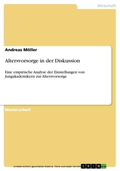 Altersvorsorge in der Diskussion - Blick ins Buch