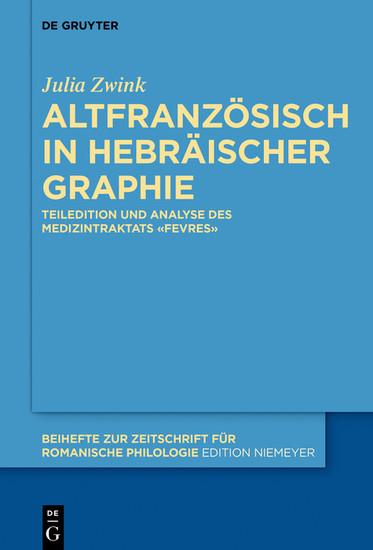 Altfranzösisch in hebräischer Graphie - Blick ins Buch