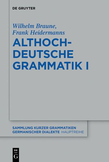 Althochdeutsche Grammatik I - Blick ins Buch