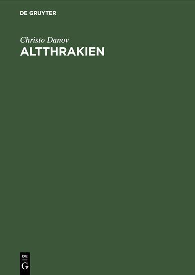 Altthrakien - Blick ins Buch