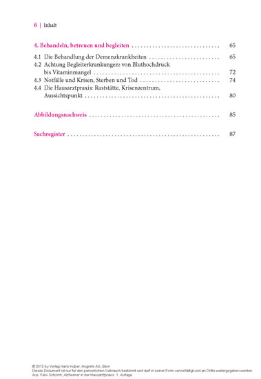 Alzheimer in der Hausarztpraxis - Blick ins Buch