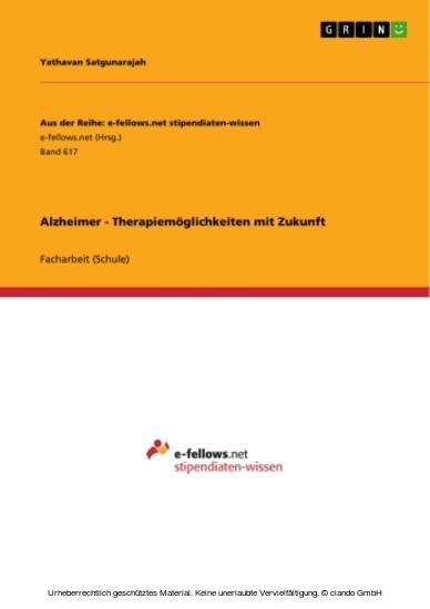 Alzheimer - Therapiemöglichkeiten mit Zukunft - Blick ins Buch