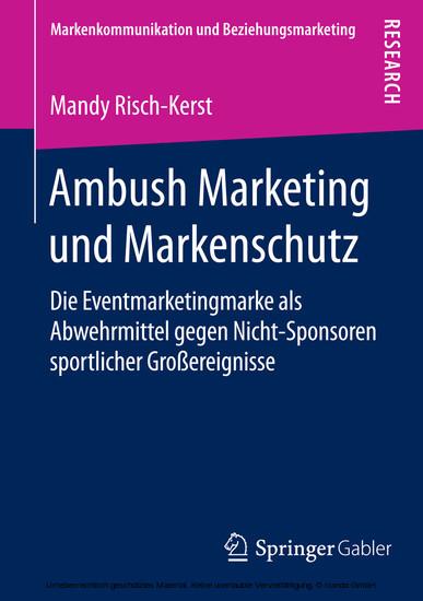 Ambush Marketing und Markenschutz - Blick ins Buch