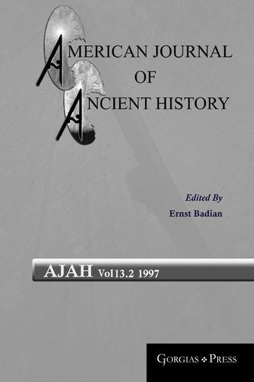 American Journal of Ancient History - Blick ins Buch