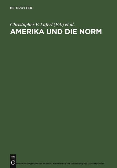 Amerika und die Norm - Blick ins Buch
