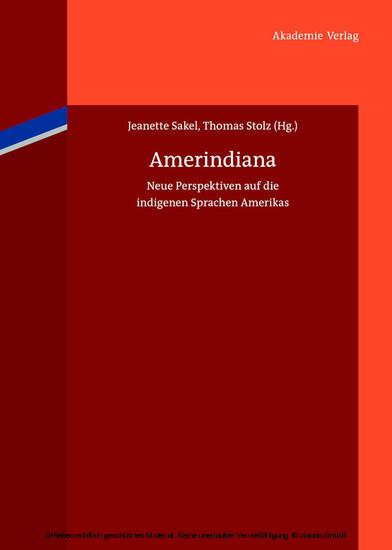 Amerindiana - Blick ins Buch