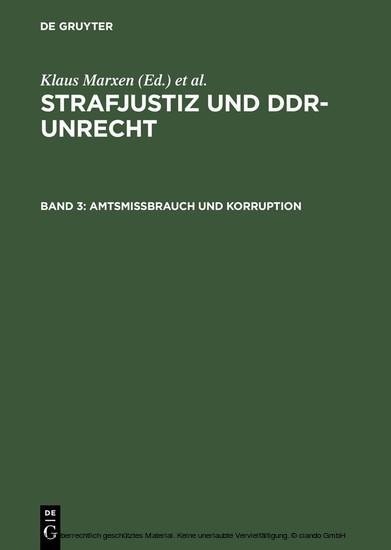 Amtsmissbrauch und Korruption - Blick ins Buch