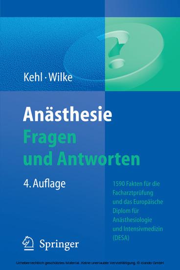Anästhesie. Fragen und Antworten - Blick ins Buch
