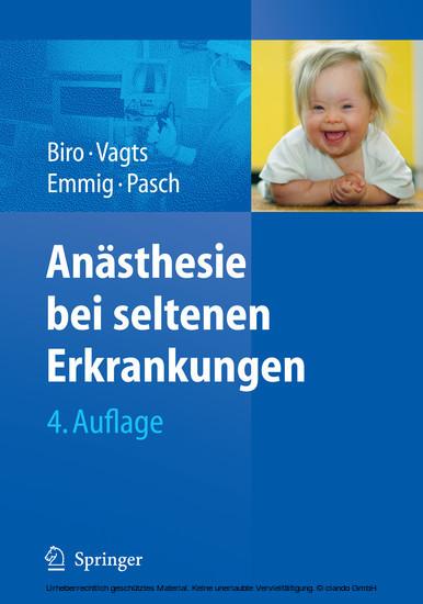 Anästhesie bei seltenen Erkrankungen - Blick ins Buch
