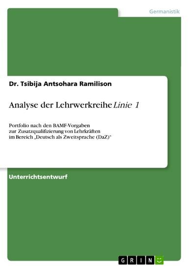Analyse der Lehrwerkreihe 'Linie 1' - Blick ins Buch