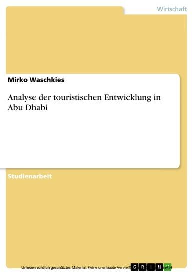 Analyse der touristischen Entwicklung in Abu Dhabi - Blick ins Buch