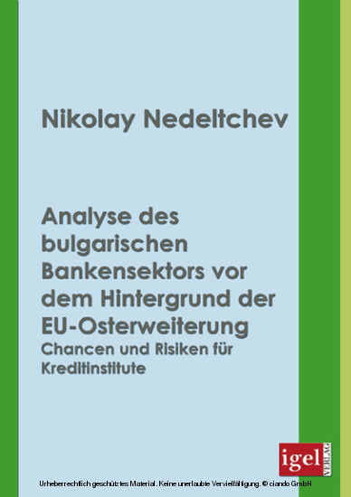 Analyse des bulgarischen Bankensektors vor dem Hintergrund der EU-Osterweiterung - Blick ins Buch