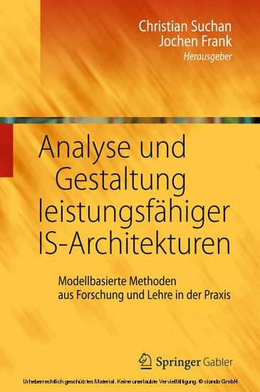 Analyse und Gestaltung leistungsfähiger IS-Architekturen - Blick ins Buch