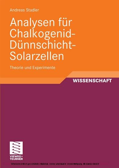 Analysen für Chalkogenid-Dünnschicht-Solarzellen - Blick ins Buch