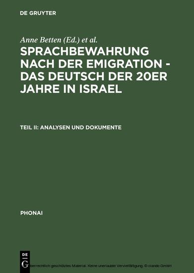 Analysen und Dokumente - Blick ins Buch