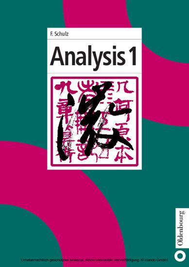 Analysis 1 - Blick ins Buch