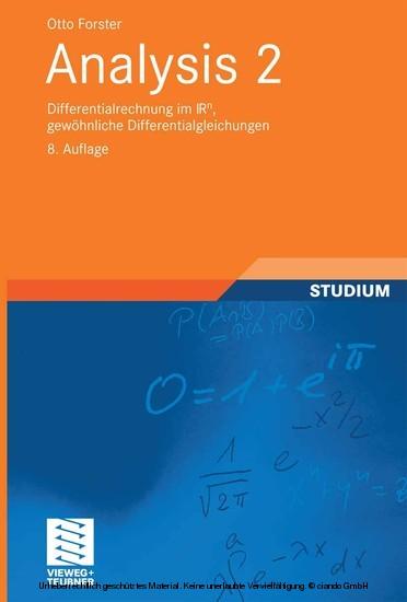 Analysis 2 - Blick ins Buch