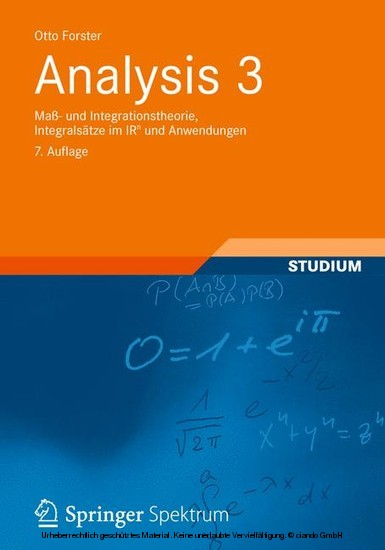 Analysis 3 - Blick ins Buch