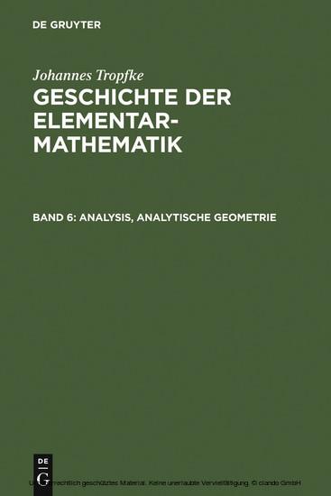 Analysis, analytische Geometrie - Blick ins Buch