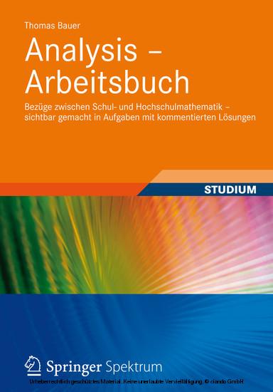 Analysis - Arbeitsbuch - Blick ins Buch